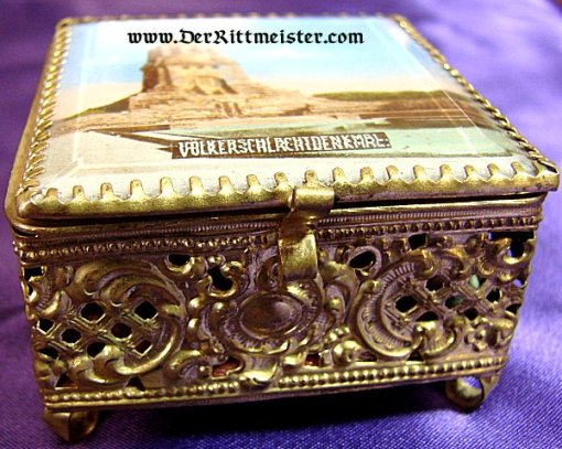 PATRIOTIC BOX  - FOR THE VÖLKERSCHLACHTDENKMAL IN LEIPZIG - Imperial German Military Antiques Sale