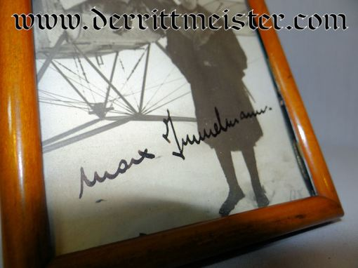 PERIOD-FRAMED ORIGINAL AUTOGRAPHED MAX IMMELMANN PHOTOGRAPH - Imperial German Military Antiques Sale