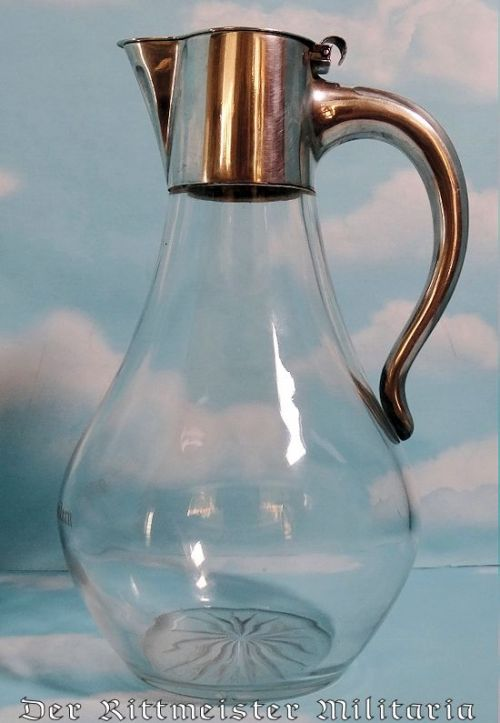 WINE CARAFE FROM KAISER WILHELM II's ROYAL YACHT S. M. Y. (SEINER MAJESTÄT YACHT) HOHENZOLLERN - Imperial German Military Antiques Sale