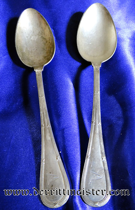 KAISERLICHER YACHT CLUB SOUP SPOONS - Imperial German Military Antiques Sale