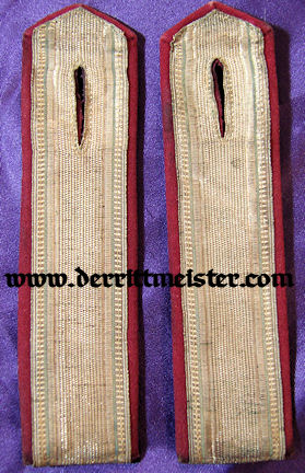 BAVARIA - SHOULDER BOARDS - LEUTNANT - ULANEN-REGIMENT Nr 1 - Imperial German Military Antiques Sale