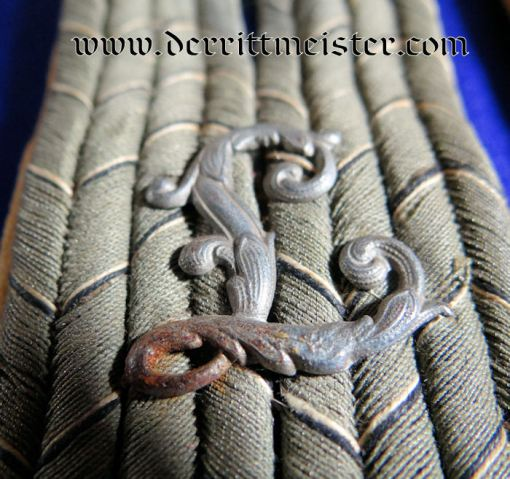 PRUSSIA - SHOULDER BOARDS - LEUTNANT - ARMY LUFTSCHIFFER BATTALION - Imperial German Military Antiques Sale