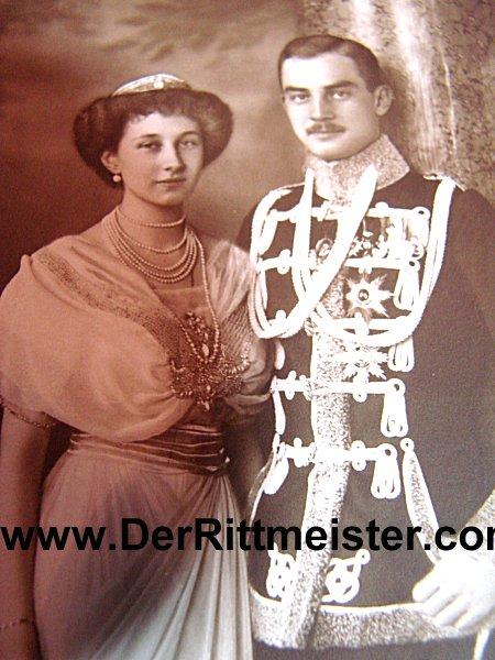 POSTCARD - BRAUNSCHWEIG'S HERZOG ERNST AUGUST - AND WIFE - FORMER PRINZESSIN VIKTORIA LOUISE von PREUßEN - Imperial German Military Antiques Sale