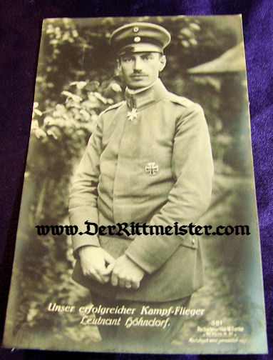 SANKE POSTCARD Nr 381 - PLM WINNER WALTER HÖHNDORFF - Imperial German Military Antiques Sale