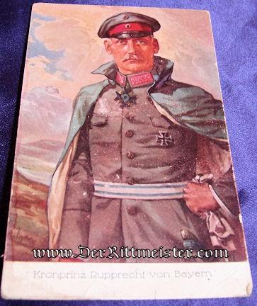 COLOR POSTCARD - KRONPRINZ RUPRECHT - BAVARIA - Imperial German Military Antiques Sale