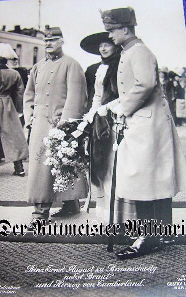 POSTCARD - DUKE ERNST AUGUST - DUCHESS VIKTORIA LUISE - BRAUNSCHWEIG - DUKE - CUMBERLAND - Imperial German Military Antiques Sale