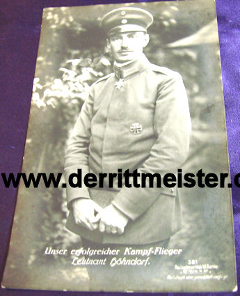 SANKE CARD Nr 381 - PLM WINNER LEUTNANT WALTER HÖHNDORFF - Imperial German Military Antiques Sale