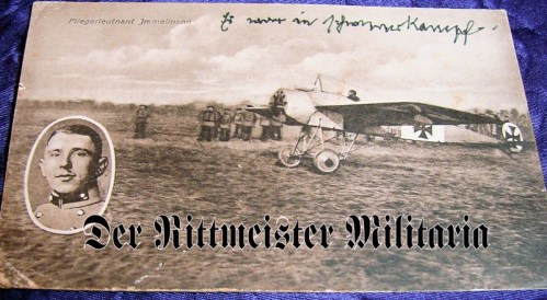 POSTCARD - OF PLM WINNER MAX IMMELMANN - FAMED FOKKER EINDECKER - Imperial German Military Antiques Sale