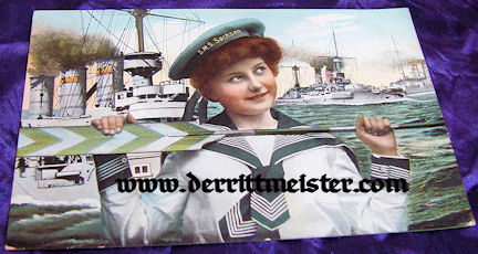 POSTCARD CUTIE - S.M.S. SACHSEN - Imperial German Military Antiques Sale