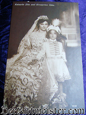 POSTCARD - AUSTRIA'S KAISERIN ZITA AND KRONPRINZ OTTO - Imperial German Military Antiques Sale