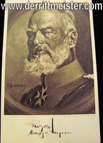 POSTCARD - BAVARIA'S PRINZ LEOPOLD - Imperial German Military Antiques Sale