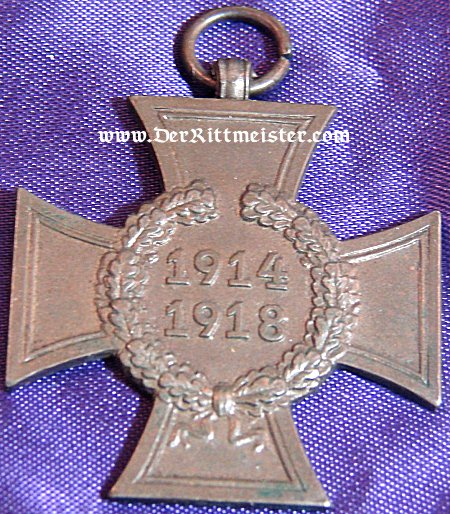 HINDENBURG CROSS FOR NON COMBATANTS - Imperial German Military Antiques Sale