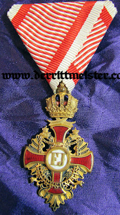 KNIGHT'S CROSS - FRANZ JOSEF ORDER - ORIGINAL PRESENTATION CASE - AUSTRIA - Imperial German Military Antiques Sale