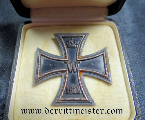 IRON CROSS - 1914 - 1ST CLASS - LOW VAULTED - HALLMARKED FOR GODET - IN ORIGINAL PRESENTATION CASE