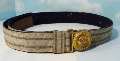 BADEN & OLDENBURG - DRESS BROCADE BELT & BUCKLE - OFFICER - Imperial German Military Antiques Sale