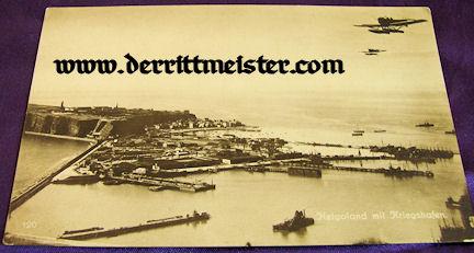 POSTCARD - GERMAN ISLAND - HELGOLAND - SEAPLANES - Imperial German Military Antiques Sale