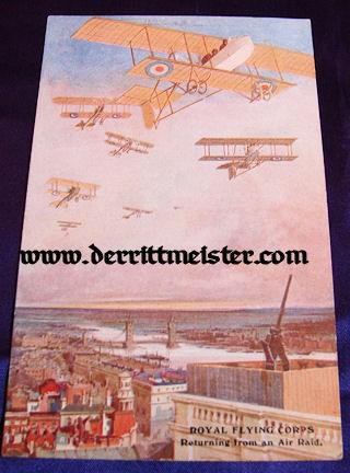 COLOR POSTCARD - SQUADRON - ENGLISH PLANES - Imperial German Military Antiques Sale