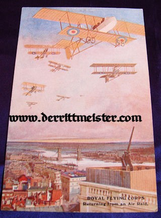 COLOR POSTCARD - SQUADRON - ENGLISH PLANES - Imperial German Military Antiques Sale