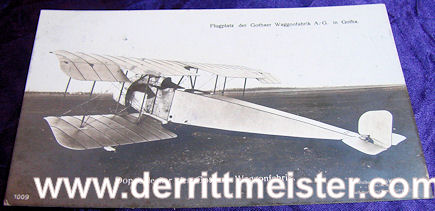SANKE CARD Nr 1009 - GOTHA OBSERVATION PLANE - Imperial German Military Antiques Sale