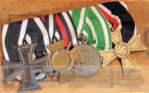 MEDAL BAR - FOUR PLACE - Imperial German Military Antiques Sale