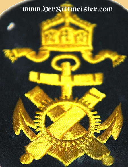 GERMANY - RATING PATCH - ENLISTED MAN - NAVAL ARTILLERIE - KAISERLICHE MARINE - Imperial German Military Antiques Sale