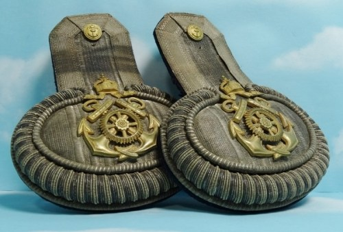 PRUSSIA - EPAULETTES - NAVY - OBERLOTSEN (SENIOR NCO) - Imperial German Military Antiques Sale