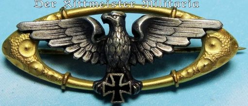 PATRIOTIC EAGLE AND IRON CROSS BROSCHE - Imperial German Military Antiques Sale