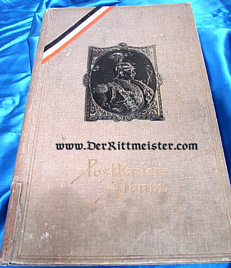 PRUSSIA - POSTCARD ALBUM - KAISER WILHELM II WEARING GARDE du CORPS HELMET ON COVER - Imperial German Military Antiques Sale