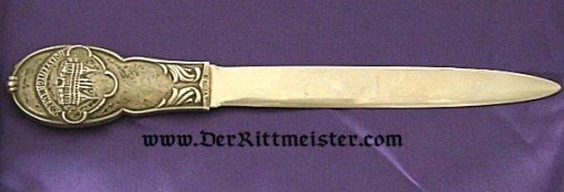 HIGH QUALITY LETTER OPENER - HOLSTENTOR - LÜBECK - Imperial German Military Antiques Sale
