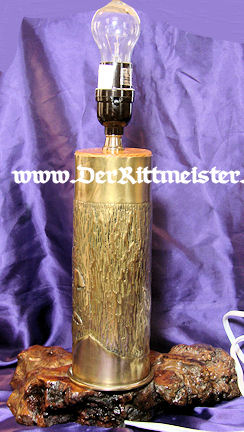 TRENCH ART LAMP - Imperial German Military Antiques Sale