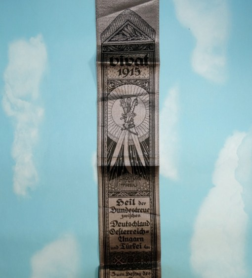 VIVAT RIBBON FOR CENTRAL POWERS ALLIANCE - Imperial German Military Antiques Sale