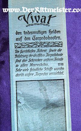 VIVAT RIBBON - GERMAN TORPEDOBOOTEN. - Imperial German Military Antiques Sale