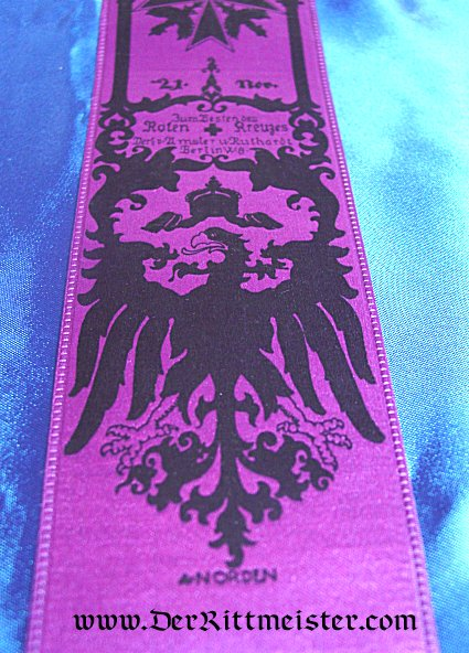 VIVAT RIBBON - BATTLE OF ROVIPAZAR - Imperial German Military Antiques Sale