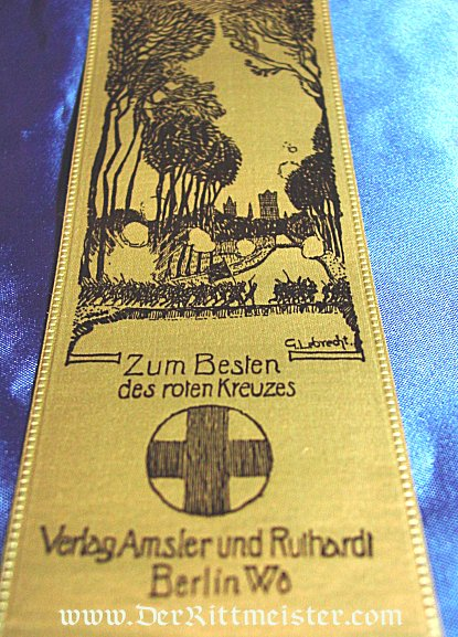 VIVAT RIBBON FOR HERZOG ALBRECHT OF WÜRTTEMBERG AND THE BATTLE OF STEENSTRAATE AND HETSAS-LIZERNE - Imperial German Military Antiques Sale