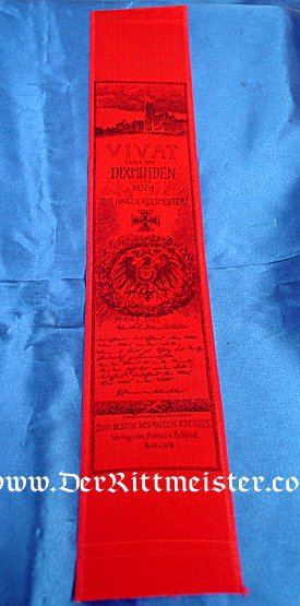 VIVAT RIBBON - BATTLE OF DIXMUIDEN - Imperial German Military Antiques Sale