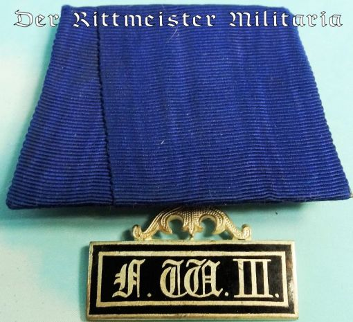 MEDAL BAR - ONE PLACE - PRUSSIA - LANDWEHR LONG-SERVICE MEDAL 2ND CLASS - Imperial German Military Antiques Sale