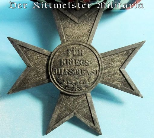 PRUSSIA - MEDAL BAR - ONE-PLACE - VERDIENSTKREUZ FÜR KRIEGSHILFE - Imperial German Military Antiques Sale
