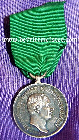 SILVER MEDAL FÜR TREUE IN DER ARBEIT - SAXONY - Imperial German Military Antiques Sale