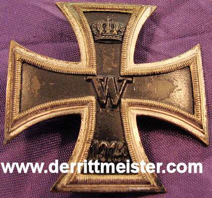 IRON CROSS - 1914 - 1st CLASS - VAULTED - Imperial German Military Antiques Sale