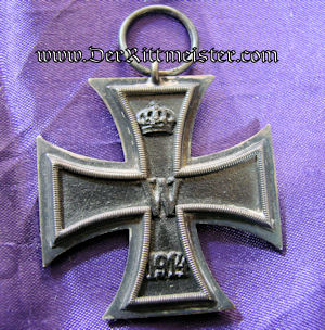 IRON CROSS - 1914 - 2nd CLASS WITH MOTHER-OF-PEARL IRON CROSS-SHAPED BACKGROUND - Imperial German Military Antiques Sale