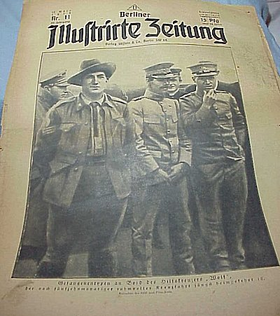 ASSORTED NEWSPAPERS FROM WW I - Imperial German Military Antiques Sale