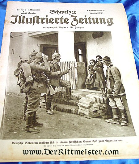GERMANY - NEWSPAPER - SCHWEIZER ILLUSTREIERTE ZEITUNG - Imperial German Military Antiques Sale