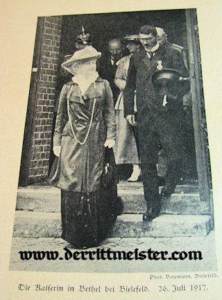 GERMANY - BOOKLET - DIE KAISERIN BLATTER - DER ERINNERUNG by Dr. Bogdan Krieger - Imperial German Military Antiques Sale