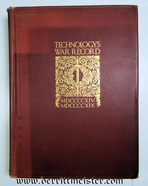 GERMANY - BOOK - TECHNOLOGY'S WAR RECORD - Imperial German Military Antiques Sale