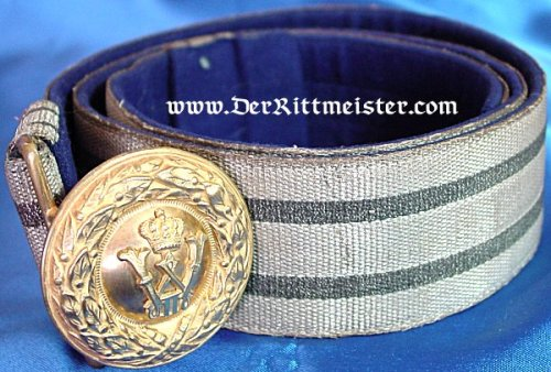 PRUSSIA - BROCADE DRESS BELT - OFFICER - Imperial German Military Antiques Sale