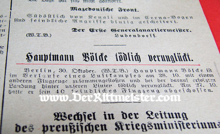 PRUSSIA - DAILY DISPATCH - GROßES HAUPTQUARTIER - Imperial German Military Antiques Sale