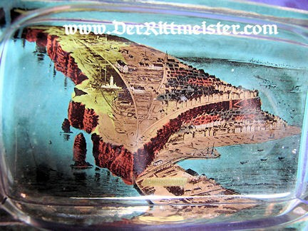 GLASS ASHTRAY - HELGOLAND ISLAND - Imperial German Military Antiques Sale