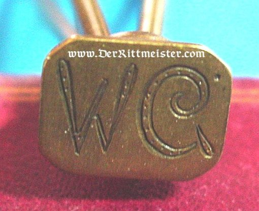 PERSONALIZED INK STAMP - Imperial German Military Antiques Sale
