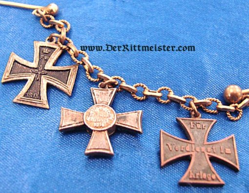 THREE-PLACE MINIATURE TIE BAR CHAIN - Imperial German Military Antiques Sale