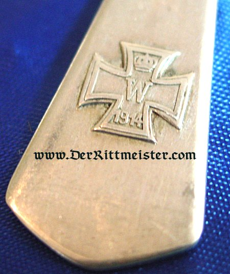 GERMANY - SPOONS - SILVER WITH IRON CROSS MOTIF - Imperial German Military Antiques Sale